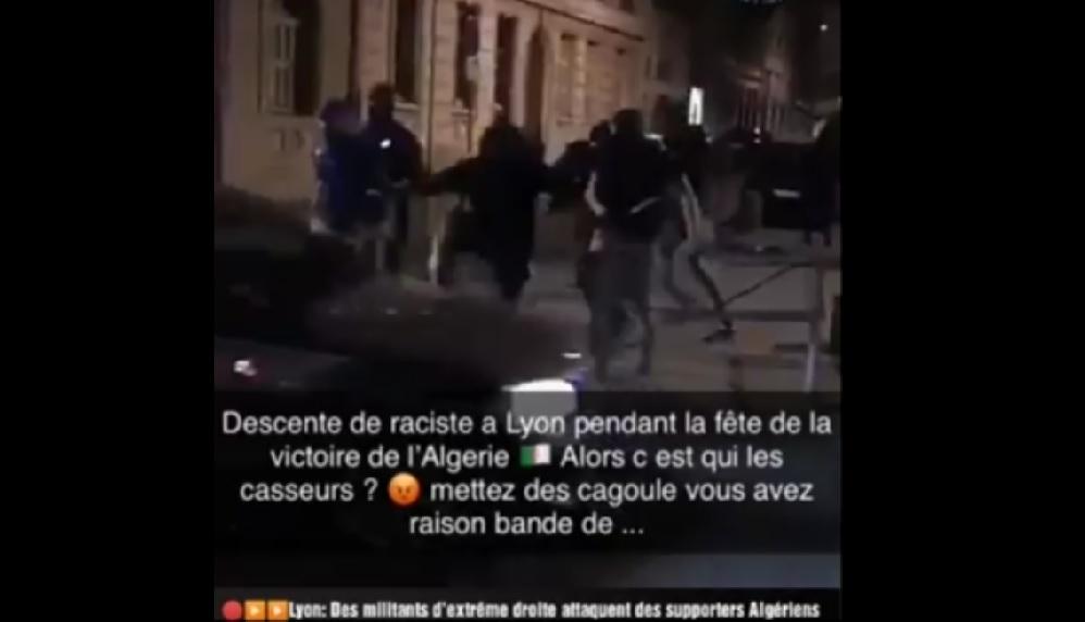 Des extrémistes encagoulés attaquent des automobilistes — Lyon