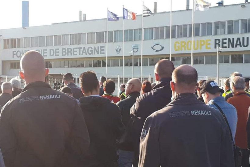 Débrayage à la Fonderie de Bretagne, un des quatre sites menacé — Renault
