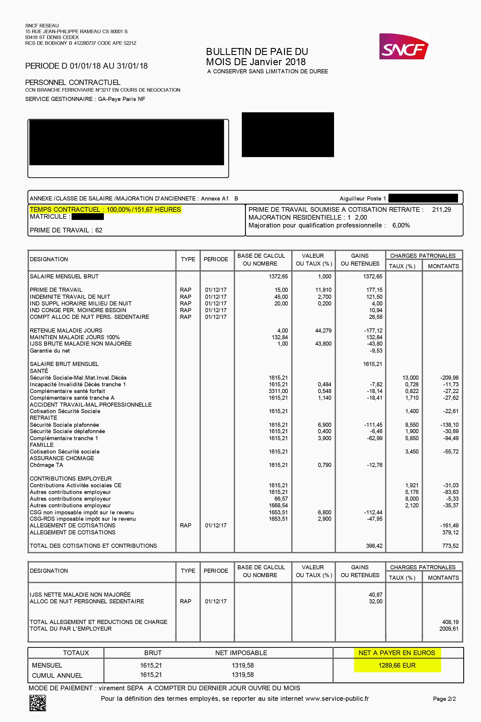 Ces 13 bulletins de paie de cheminots qui ne vous feront pas r ver - Grille salaire conducteur de travaux ...