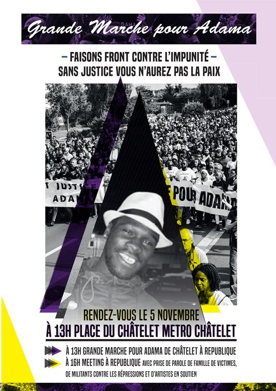 Manifestation 5/11 justice pour ATraoré Affiche_marche_pour_adama_format_a4