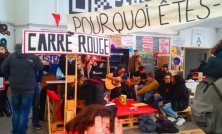 A l'Université Paris 8, l'occupation du « carré rouge » au cœur de la mobilisation étudiante