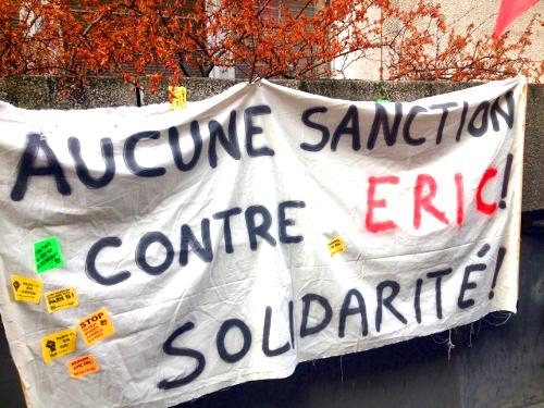 La Poste. Jour de colère contre la répression. Pas de sanction pour Eric !