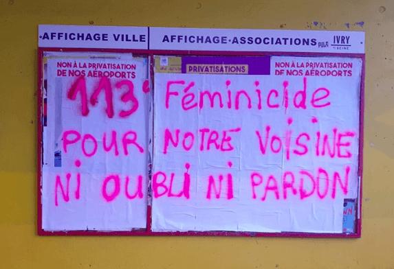 113, 114... la liste des féminicides cette année s'allonge de manière dramatique