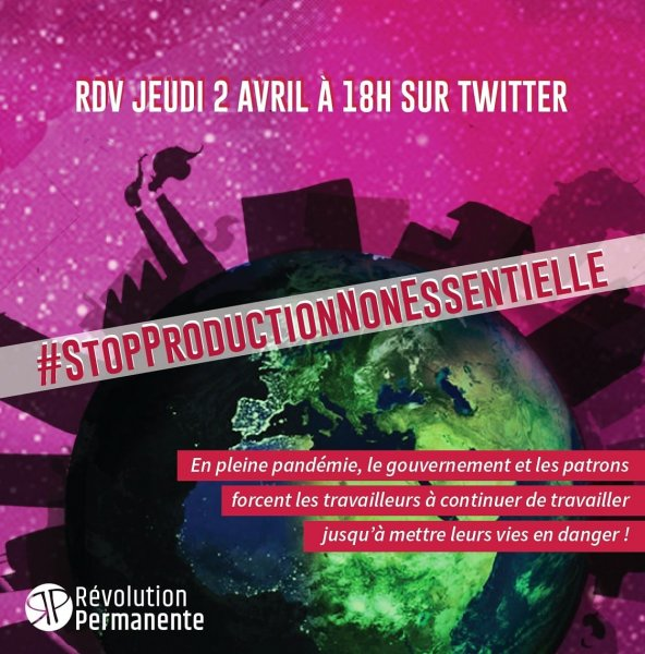#StopProductionNonEssentielle