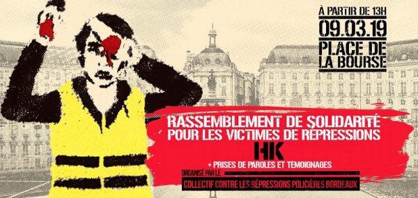 Acte 17 à Bordeaux . Un rassemblement avec HK contre les violences policières