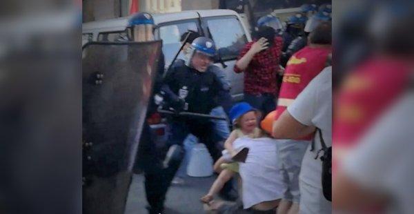 Témoignage. Un père et sa fille de 2 ans chargés par la police : « Ils n'ont plus de limite ? »