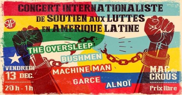 Bordeaux. Concert internationaliste : soutien aux luttes en Amérique latine