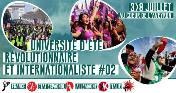 Université d'été révolutionnaire et internationaliste #02, du 3 au 8 juillet dans l'Aveyron