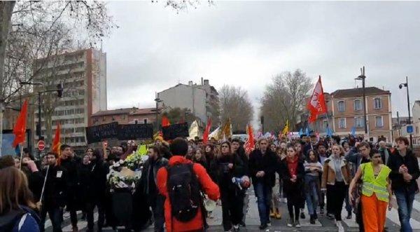 24 janvier : Blocage, marche funéraire et manif' massive : la grève se poursuit à Toulouse