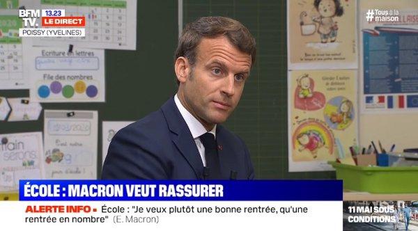 Derrière les hommages sournois, Macron veut imposer la reprise aux enseignants !