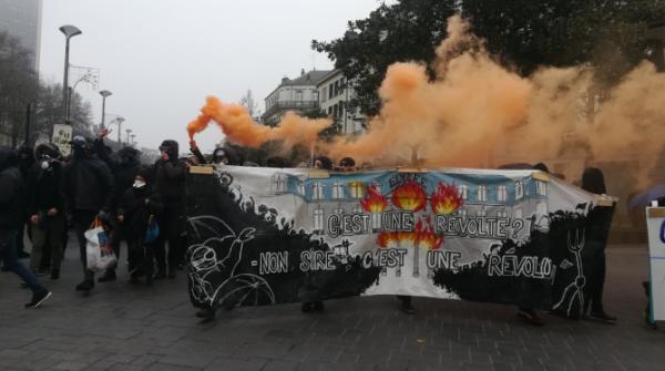 VIDEO. Nantes : la manifestation éclatée, des canons utilisés contre les manifestants