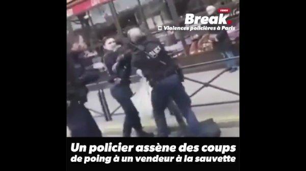 Vague d'indignation après la vidéo d'un « vendeur à la sauvette » frappé par un policier