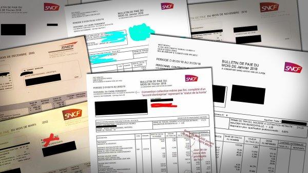 Ces 13 bulletins de paie de cheminots qui ne vous feront pas rêver