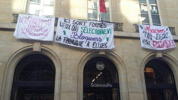 """Sciences Po occupée : """"Macron, ton école est bloquée"""""""