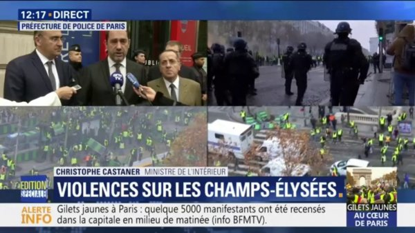 Manœuvre : Castaner cible Le Pen pour amalgamer les Gilets jaunes à l'extrême droite