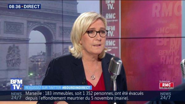 Ce lundi, Marine le Pen se réaffirme contre la hausse du SMIC, une des principales revendications des gilets jaunes