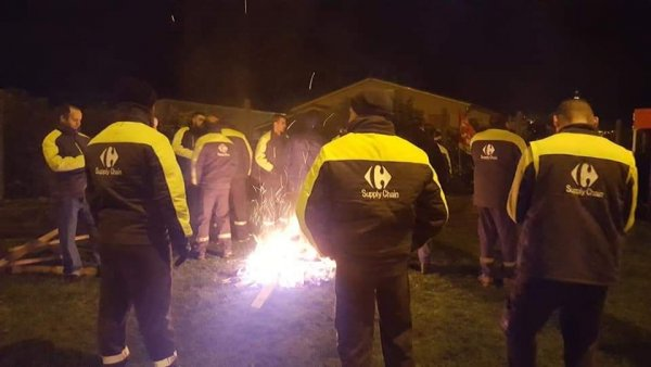 Toulouse. Les ouvriers de Carrefour supply chain en grève et des gilets jaunes en soutien