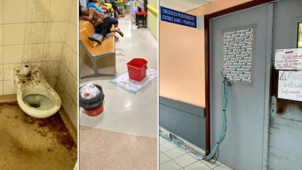 Entre fuites d'eau et flaques de sang, l'état scandaleux des urgences du CHU de Pointe-à-Pitre