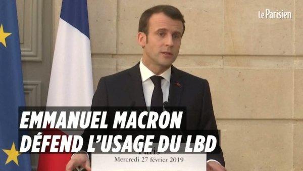Face aux critiques du Conseil de l'Europe, Macron défend une nouvelle fois le LBD 40
