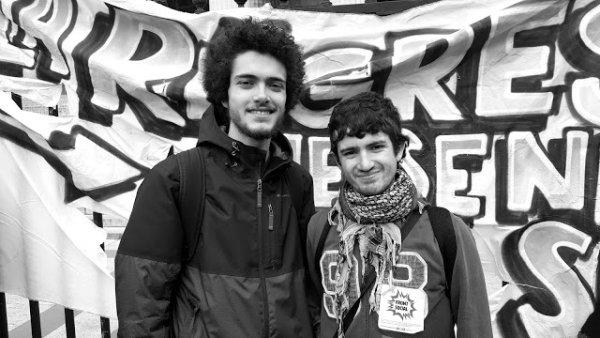 Rassemblement contre l'exclusion de Micka et Victor, étudiants de Nanterre