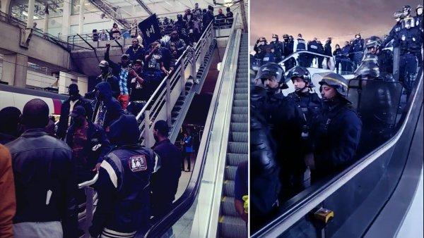"""Des centaines de migrants, les """"Gilets Noirs"""", occupent l'aéroport de Roissy contre les déportations. Solidarité !"""