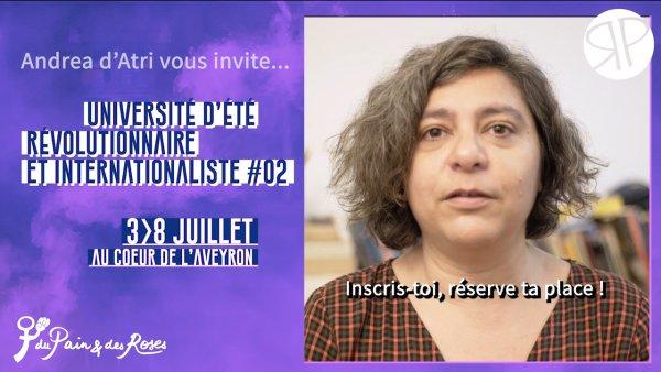 Vidéo. Andrea D'Atri, figure féministe en Argentine, vous invite à notre université d'été !