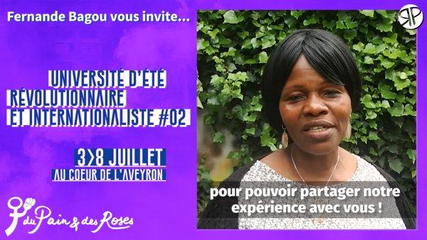 Vidéo. Fernande Bagou, ex-gréviste d'ONET, vous invite à notre Université d'été