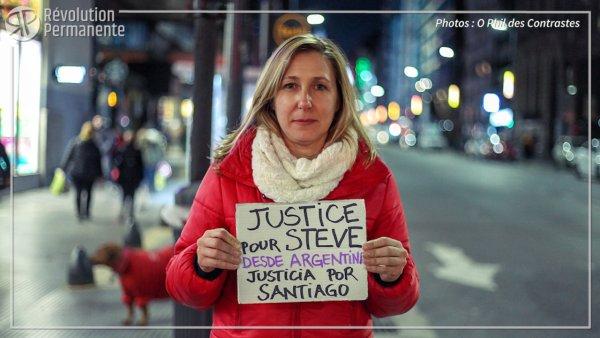 Vidéo. #JusticePourSteve depuis l'Argentine, à 2 ans de la mort de Santiago Maldonado
