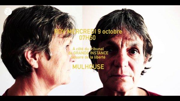 Vidéo. Mulhouse. Soutien à Anne et Patrick, décrocheurs de portraits de Macron en procès !