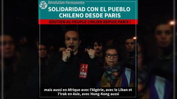 Vidéo. Les militants de Révolution Permanente envoient un message de soutien au peuple chilien en lutte