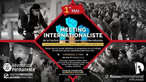 Le 1er mai, Révolution Permanente t'invite à un grand Meeting internationaliste !