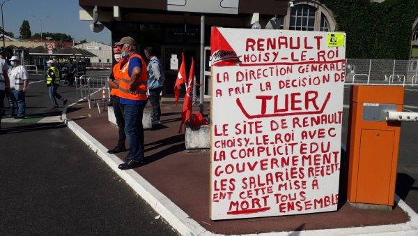 Renault Choisy-le-Roi : rassemblement et manifestation contre la fermeture de l'usine