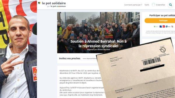 2 mois sans salaire pour Ahmed Berrahal. La RATP veut affamer les syndicalistes : soyons solidaires !
