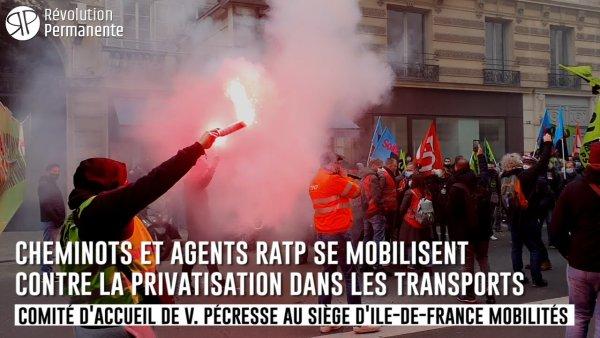 Reportage. Cheminots et agents RATP se mobilisent contre la privatisation dans les transports