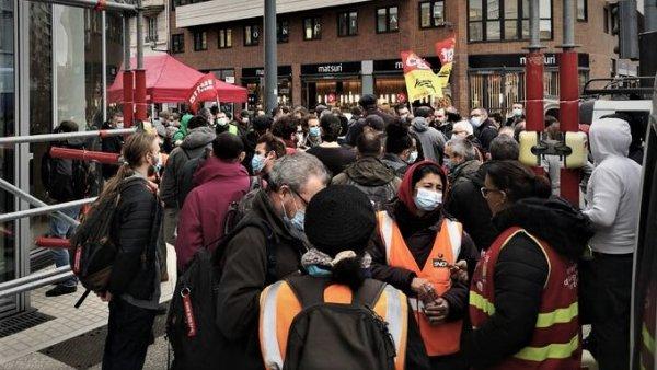 SNCF. 200 personnes mobilisées contre la répression de Joe, cheminot à Lyon