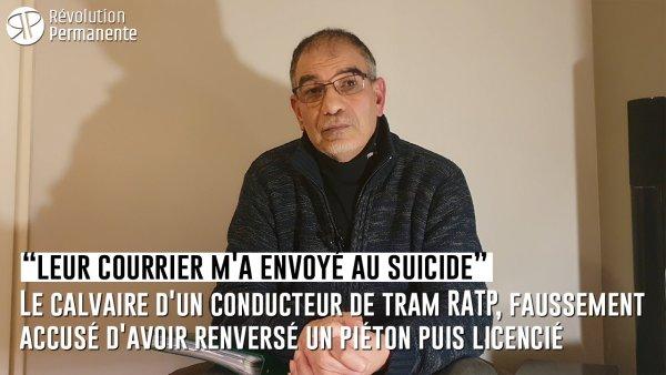« Honte à la RATP ! » Faussement accusé d'avoir renversé un piéton puis licencié : le calvaire d'un conducteur de tram
