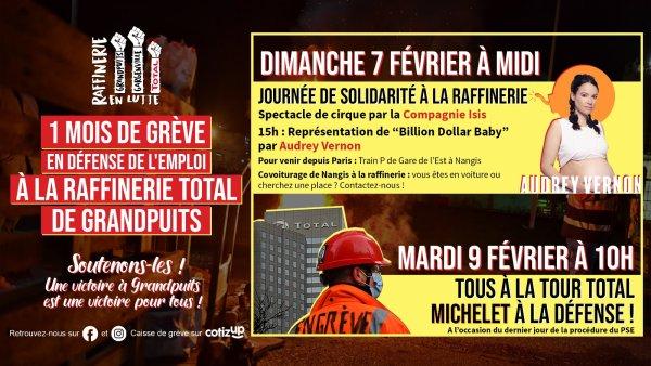 Grandpuits : spectacle exclusif d'Audrey Vernon dimanche sur le piquet de grève !