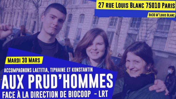 Biocoop – Le Retour à la Terre. Soutenons les grévistes licenciés pour grève le 30 mars !