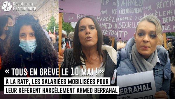 « Tous en grève le 10 mai ! » A la RATP, les salariées mobilisées pour leur référent harcèlement Ahmed Berrahal