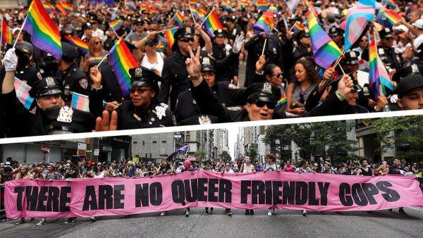 Symbolique. A New York, les organisateurs de la marche des fiertés excluent les policiers !