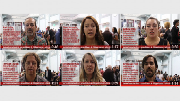 Argentine, Brésil, Chili. Des personnalités de l'extrême gauche latino-américaine soutiennent Poutou