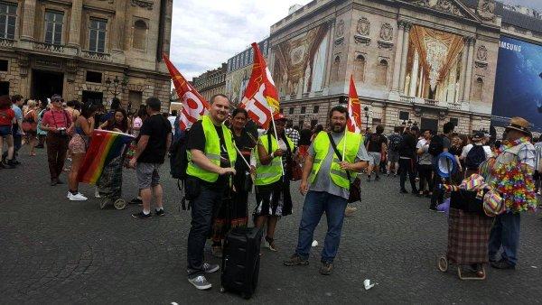 Nous, grévistes de l'hôtel Campanile Tour Eiffel, nous manifestons à la marche des fiertés !