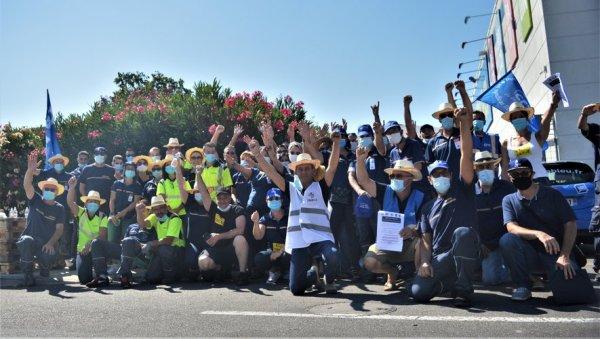 Journée de grève massive chez Castorama