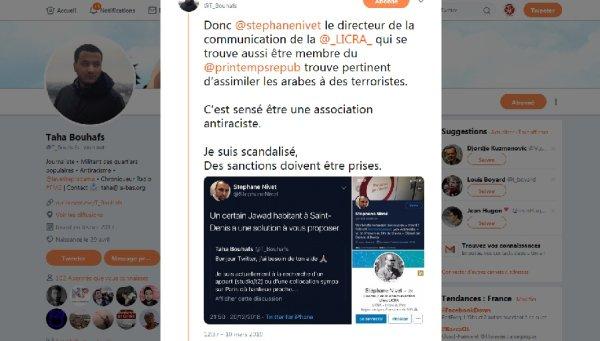 Racisme à la Licra : quand Stéphane Nivet conseille à Taha Bouhafs d'habiter chez « Jawad »