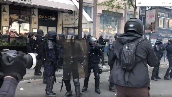 VIDEO. 1er mai : les forces de polices visent le visage au LBD