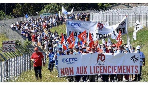 Toulouse. Face aux licenciements, première démonstration de force des travailleurs d'Airbus