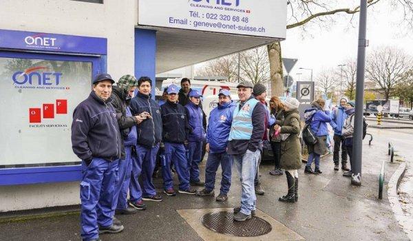 Onet. Malgré les intimidations de la multinationale, la grève se poursuit à Genève !