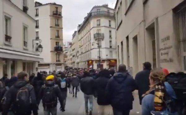 VIDEOS. Acte 53 : Malgré la nasse géante, près de 200 personnes partent en cortège de place d'Italie
