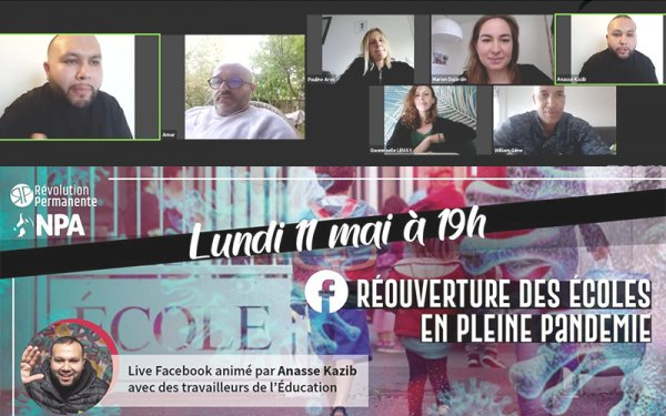 Réouverture des écoles en pleine pandémie. Live d'Anasse Kazib avec Benjamin Amar et d'autres invités