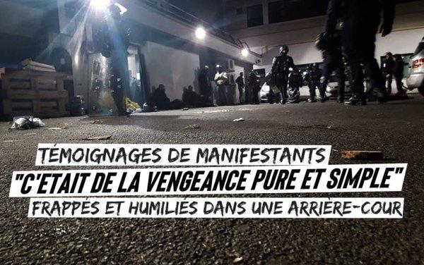 Frappés et humiliés dans une arrière-cour. Témoignages de violences policières à Nantes